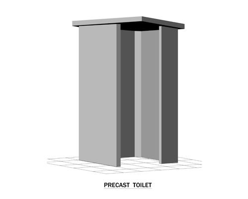 Precast Toilet